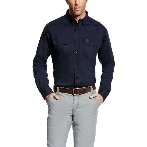 Flame-Resistant Solid Button-up Work Shirt Thumbnail