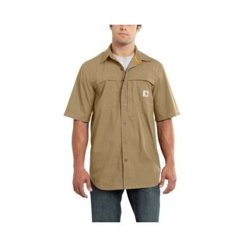 3X-4X Force Mandan Short-Sleeve Solid Woven Thumbnail