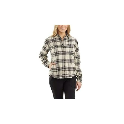W RF Relaxed Fit Fleece Lined Plaid Shirt Thumbnail