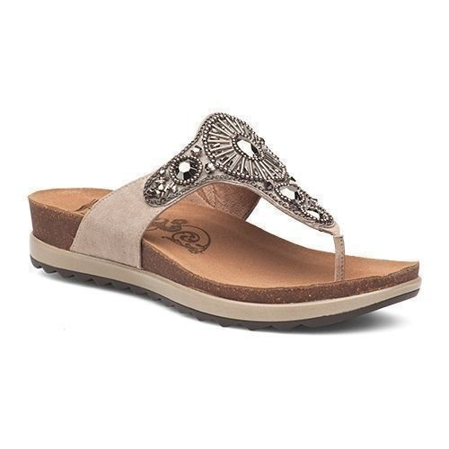 Pamela Jeweled Sandal - Taupe Thumbnail