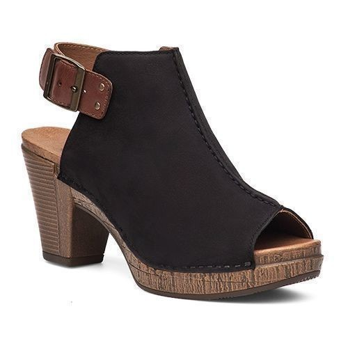 Reggie Open Toe Shootie - Black Thumbnail