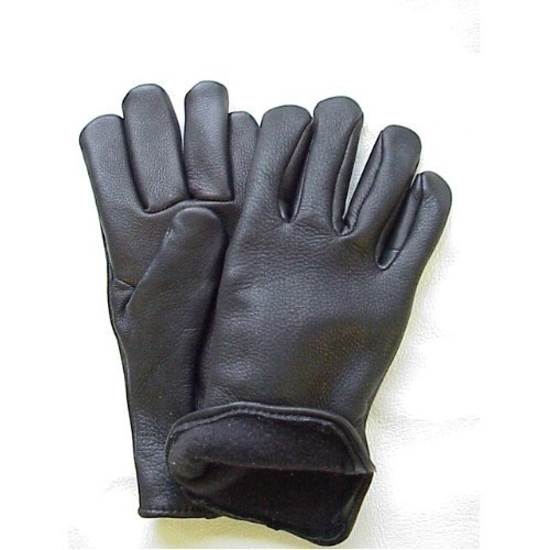 Black Fleece-Lined Deerskin Glove Thumbnail