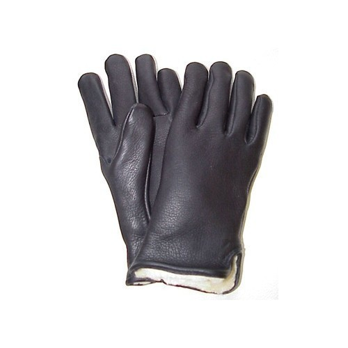 Size 13 Pile Lined Black Deerskin Glove Thumbnail