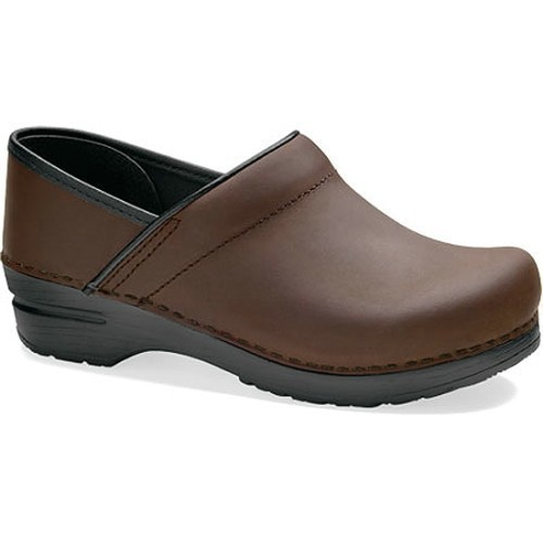 Women's Professional Oiled Clog / Brown Thumbnail