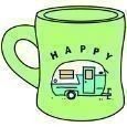 Life is Good Happy Camper Diner Mug Thumbnail