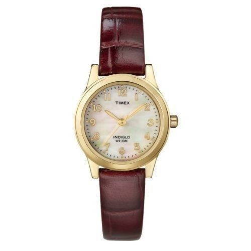 Timex Women's Dress Watch with Leather Strap Thumbnail
