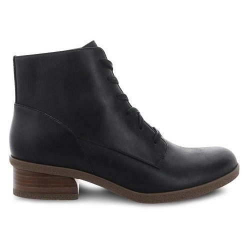 Bebe Mid Lace Leather Waterproof Black Boot Thumbnail
