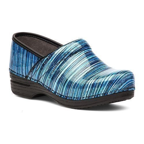 Professional XP Blue Stripe Patent Clog Thumbnail