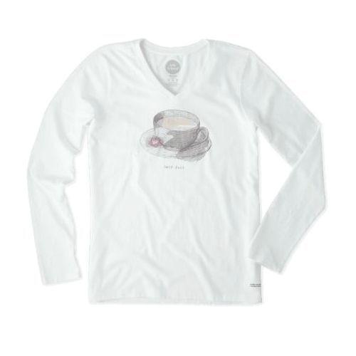 Women's Tea Half Full Crusher Long-Sleeve Tee Thumbnail