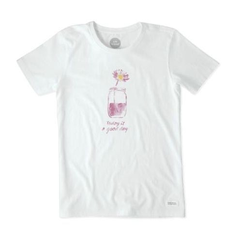 Women's Watercolor Good Day Mason Tee Thumbnail