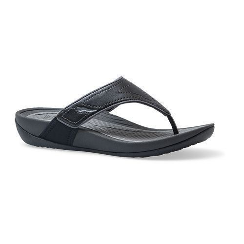 Katy 2 Flip Flop Black Grey Thumbnail