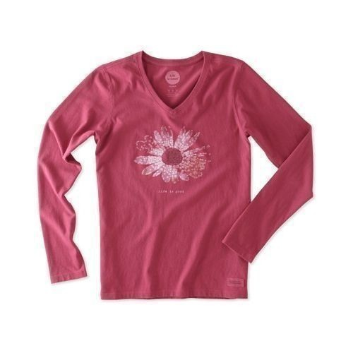 Women's Life is Good Flower Long Sleeve Vee Thumbnail
