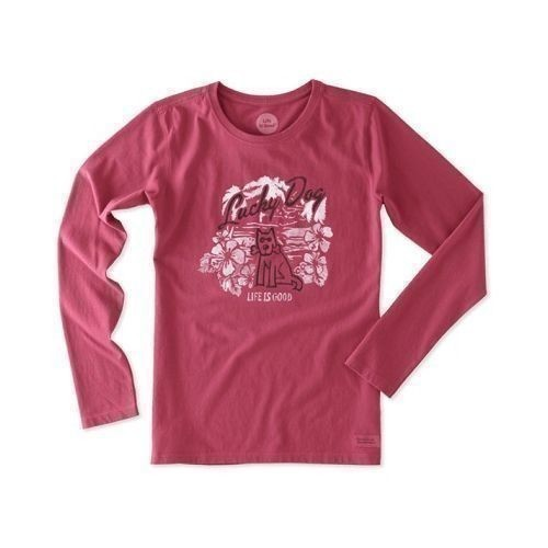 Women's Lucky Dog Hibiscus Long Sleeve Tee Thumbnail