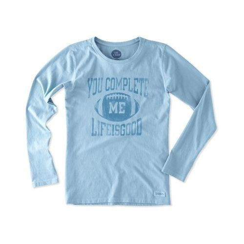 Women's You Complete Me Football Long Sleeve  Thumbnail