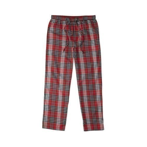 Red Gray Plaid Classic Sleep Pants Thumbnail