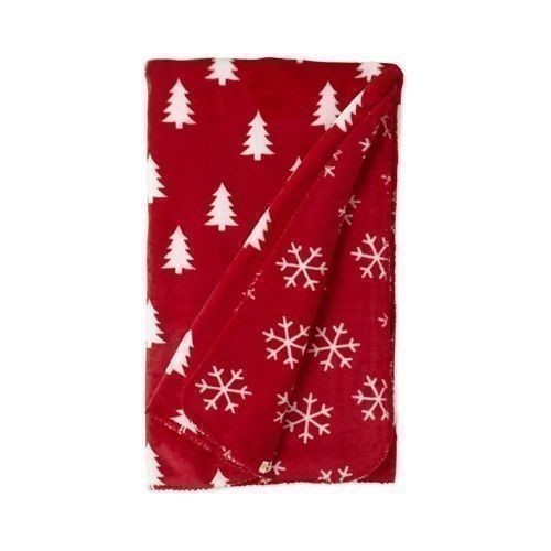 Pine Trees and Snowflakes Blanket Thumbnail