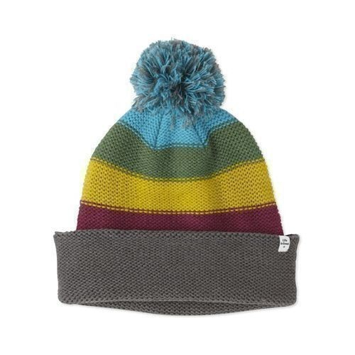 Women's Slouchy Pom Stripe Hat Thumbnail