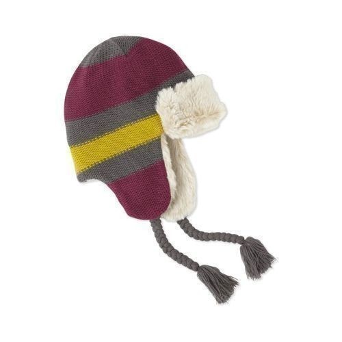 Women's Striped Trapper Winter Hat Thumbnail