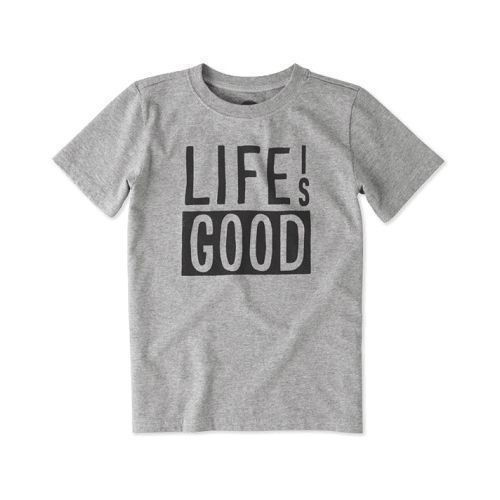 Boy's Life is Good Block Crusher Tee Thumbnail