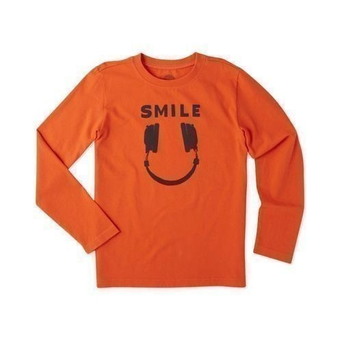 Boy's Headphone Smile Long Sleeve Tee Thumbnail