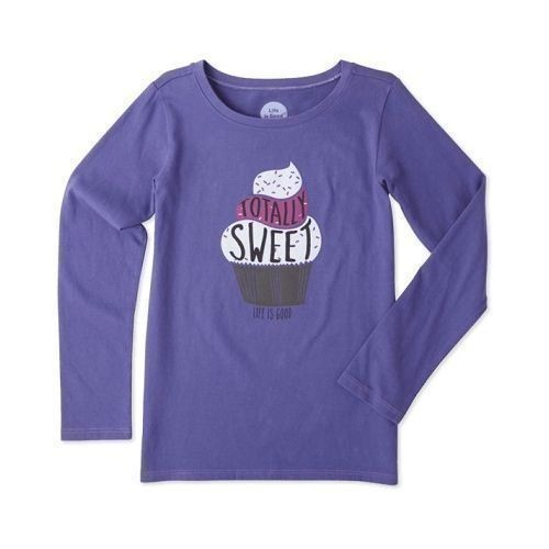 Girl's Sweet Cupcake Long Sleeve Tee Thumbnail