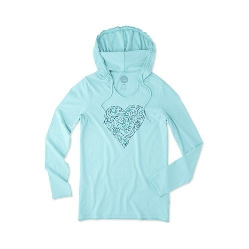 Women's Heart LS Hooded Smooth Tee Thumbnail