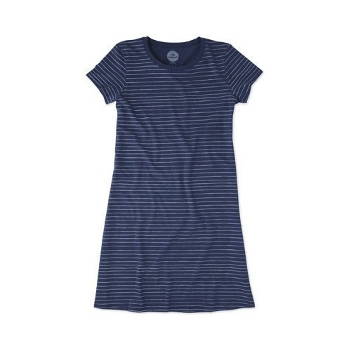 Women's T-Shirt Dress - Painted Stripe Thumbnail