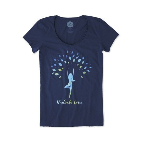 Women's Smooth Tee - Radiate Love Thumbnail