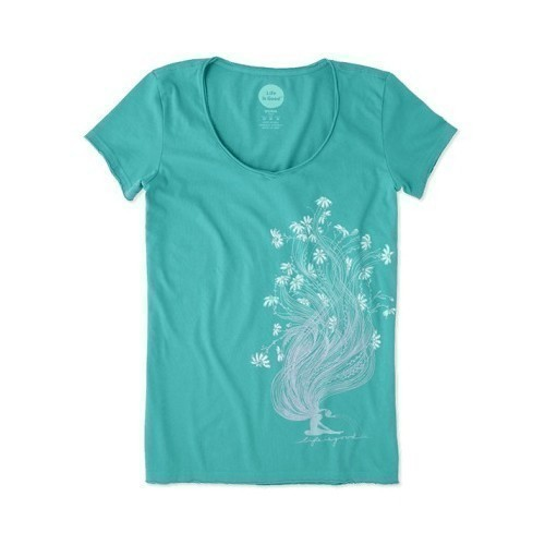 Women's Smooth Tee - Garden Pose Thumbnail