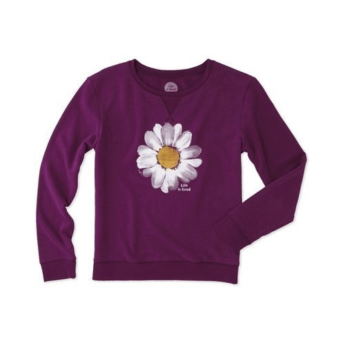 Women's Go-To Crew Daisy Painted Shirt Thumbnail