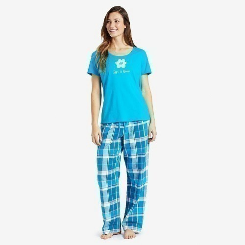 Women's Classic Sleep Pant - Blue Plaid Thumbnail
