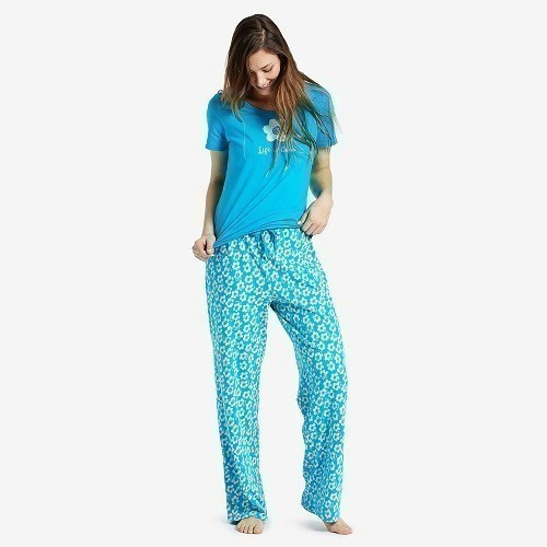 Women's Flower Jersey Sleep Pant Thumbnail