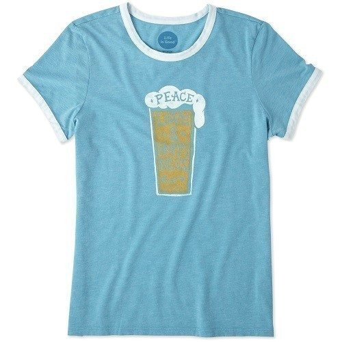 Women's Peace, Love and Hoppiness Tee Thumbnail