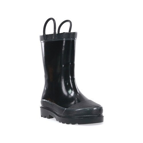 Youth Black Solid Rain Boot Thumbnail
