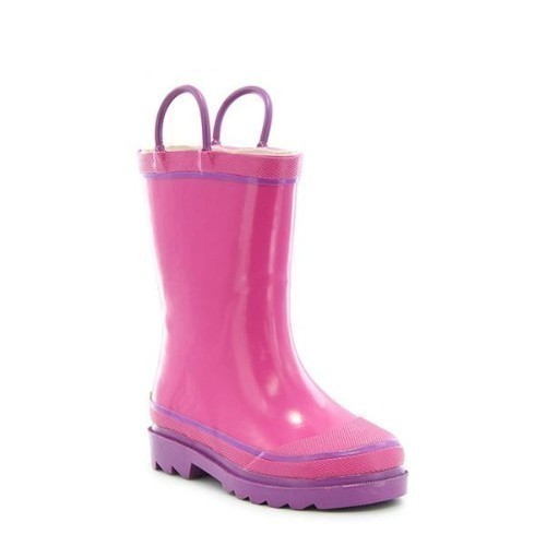 Youth Solid Pink Rain Boot Thumbnail