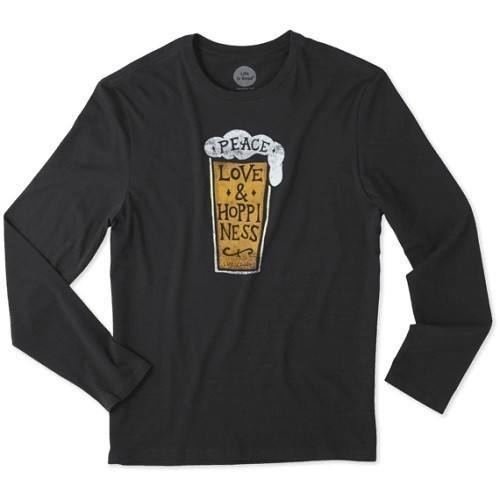 Peace, Love, Hoppiness Long Sleeve Smooth Tee Thumbnail