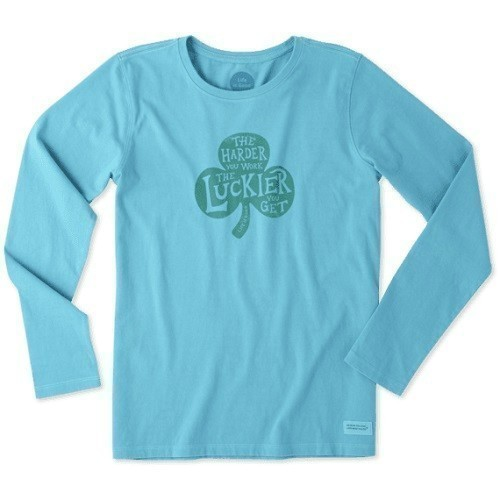 Women's Hard Work Shamrock Long Sleeve Tee Thumbnail
