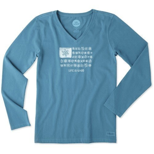 Women's Snowflake Flag Long Sleeve Tee Thumbnail