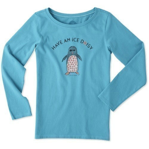 Girls Ice Daisy Penguin Long Sleeve Tee Thumbnail
