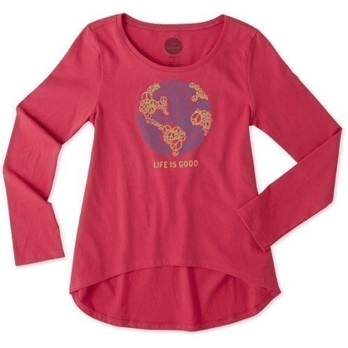 Girls World Peace Long Sleeve Scoop Neck Tee Thumbnail