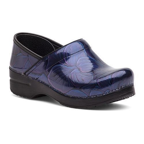 Professional Hibiscus Patent Leather Clog Thumbnail