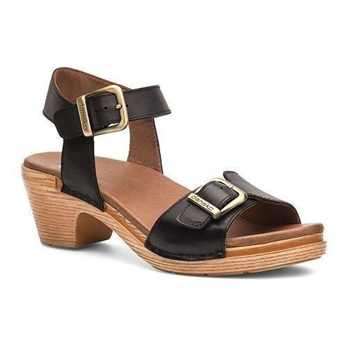 Matty Heel Black Full Grain Sandal Thumbnail