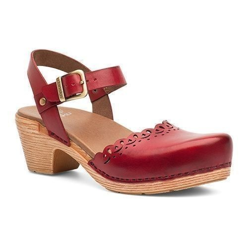 Marta Open Mary Jane Red Full Grain Shoe Thumbnail
