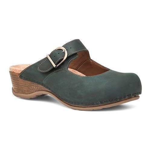 Martina Backless Clog Teal Thumbnail