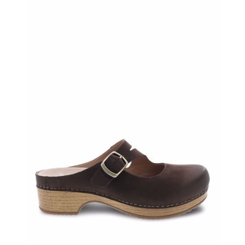 Women's Britney Backless Open Clog Brown Thumbnail
