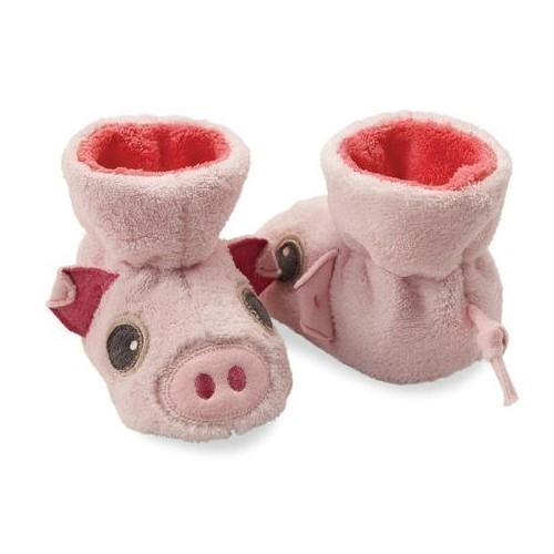 Baby Easy Critter Bootie - Piggy Thumbnail