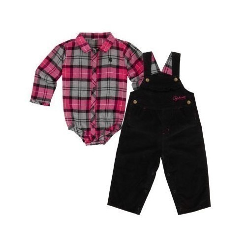 Infant Pretty Plaid Overall Se Thumbnail