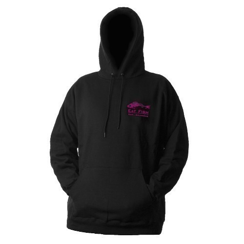 Eat Fish Hoody Pink Logo Thumbnail