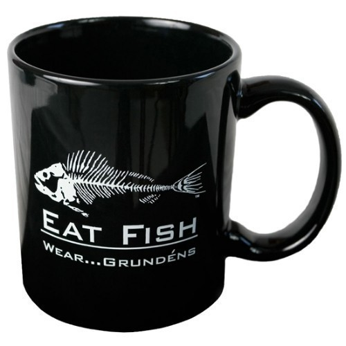Eat Fish Ceramic Mug - 12 oz. Thumbnail