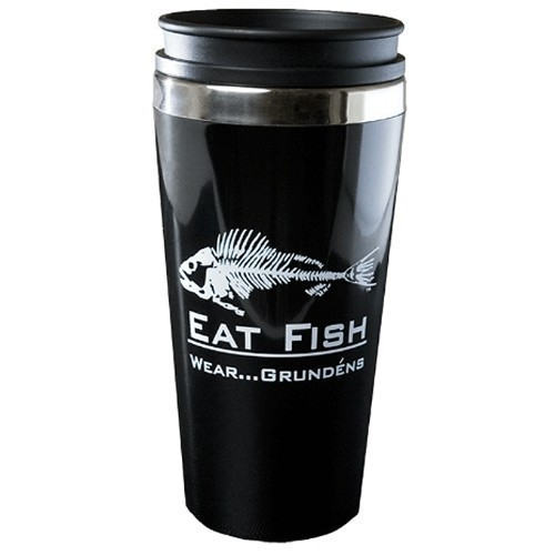Eat Fish Stainless Lined Travel Mug Thumbnail